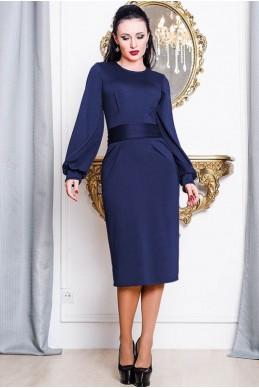 """Платье """"DIOR"""" темно-синее - женская одежда, бижутерия оптом. Фото - look-and-buy.com"""