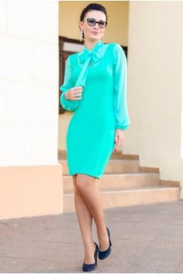 """Платье офисное """"Marcel"""", ментол - женская одежда, бижутерия оптом. Фото - look-and-buy.com"""