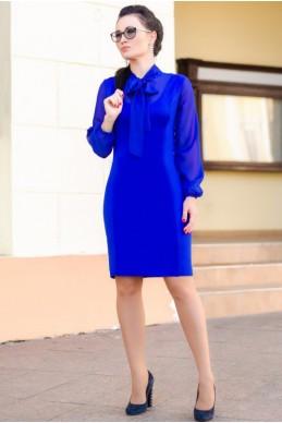 """Платье с рукавом """"Marcel"""" электрик - женская одежда, бижутерия оптом. Фото - look-and-buy.com"""