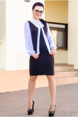 """Платье миди """"Marcel"""", черное - женская одежда, бижутерия оптом. Фото - look-and-buy.com"""
