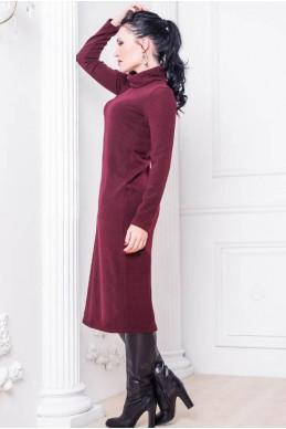 """Женское платье """"Прага"""" бордовое - женская одежда, бижутерия оптом. Фото - look-and-buy.com"""