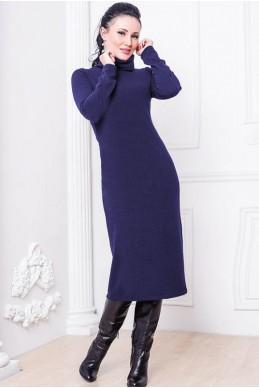 """Темно-синее платье """"Прага""""  - женская одежда, бижутерия оптом. Фото - look-and-buy.com"""