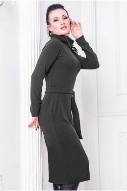 """Платье с ангорой """"Прага""""  графит - женская одежда, бижутерия оптом. Фото - look-and-buy.com"""