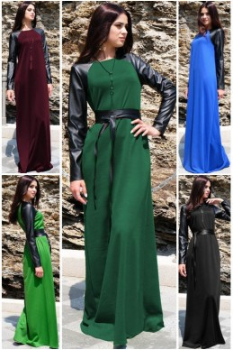 """Длинное платье """"Габриэлла"""" - женская одежда, бижутерия оптом. Фото - look-and-buy.com"""