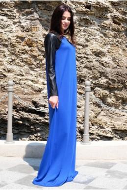 """Длинное платье """"Габриэлла"""", электрик - женская одежда, бижутерия оптом. Фото - look-and-buy.com"""