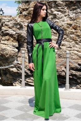 """Платье с длинным рукавом """"Габриэлла"""" Зелёный       - женская одежда, бижутерия оптом. Фото - look-and-buy.com"""