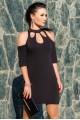 """Черное коктейльное платье """"Infiniti"""" - женская одежда, бижутерия оптом. Фото - look-and-buy.com"""