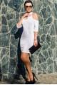 """Белое нарядное платье """"Infiniti"""" - женская одежда, бижутерия оптом. Фото - look-and-buy.com"""