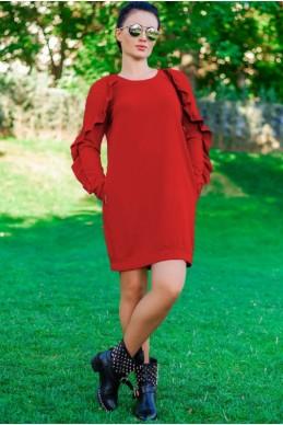 """Модное платье """"Ангелина"""", красный - женская одежда, бижутерия оптом. Фото - look-and-buy.com"""