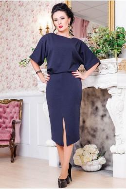 """Строгое платье """"Маристелла"""" синий - женская одежда, бижутерия оптом. Фото - look-and-buy.com"""