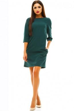 Платье изумрудного цвета  Шерри  женская одежда оптом от производителя. Фото - Доставка по СНГ - look-and-buy.com