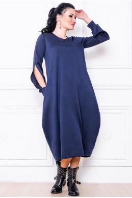 """Темно-синее платье  """"Доменик""""  - женская одежда, бижутерия оптом. Фото - look-and-buy.com"""