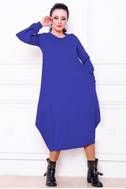"""Платье мешок """"Доменик"""" электрик - женская одежда, бижутерия оптом. Фото - look-and-buy.com"""