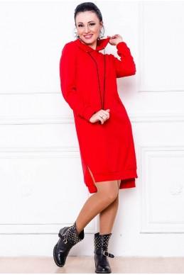 """Платье """"NEXT"""" красный - женская одежда, бижутерия оптом. Фото - look-and-buy.com"""