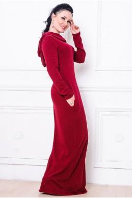 Молодежное платье Chelsea  бордовй - женская одежда, бижутерия оптом. Фото - look-and-buy.com