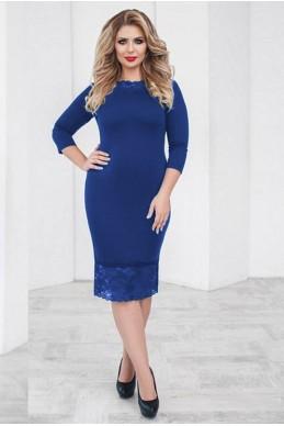 Батальное платье Ясмина электрик - женская одежда, бижутерия оптом. Фото - look-and-buy.com