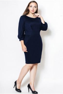 """Черное Платье миди """"CAVALLI"""" БАТАЛ - женская одежда, бижутерия оптом. Фото - look-and-buy.com"""