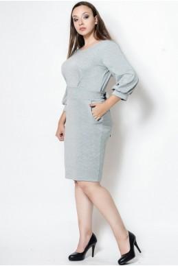"""Платье батал """"CAVALLI"""" серый - женская одежда, бижутерия оптом. Фото - look-and-buy.com"""