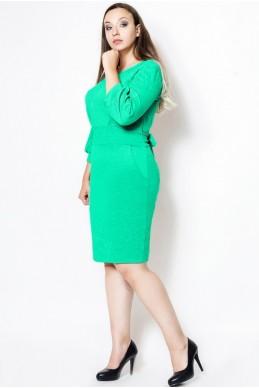 """Платье приталенное """"CAVALLI"""" ментол - женская одежда, бижутерия оптом. Фото - look-and-buy.com"""