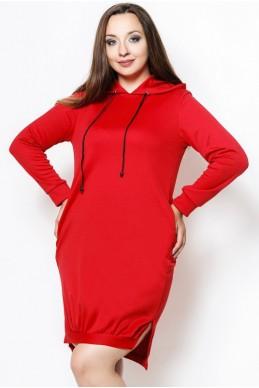 """Платье батал """"NEXT"""" красный - женская одежда, бижутерия оптом. Фото - look-and-buy.com"""