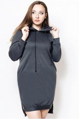 """Платье туника """"NEXT"""" графит - женская одежда, бижутерия оптом. Фото - look-and-buy.com"""