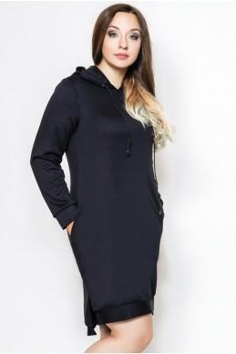 """Платье спортивное батал """"NEXT"""" темно-синий - женская одежда, бижутерия оптом. Фото - look-and-buy.com"""