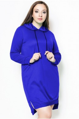 """Платье батальное """"NEXT"""" электрик - женская одежда, бижутерия оптом. Фото - look-and-buy.com"""