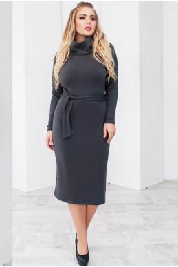 """Шерстяное  платье """"Прага"""", графит - женская одежда, бижутерия оптом. Фото - look-and-buy.com"""