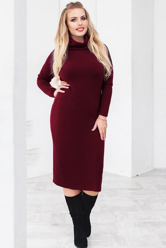 691f418f623 Купить Бордовое трикотажное платье