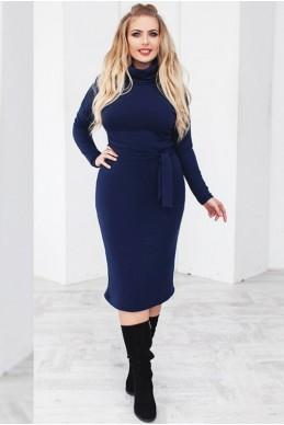 """Синее теплое платье """"Прага"""" - женская одежда, бижутерия оптом. Фото - look-and-buy.com"""
