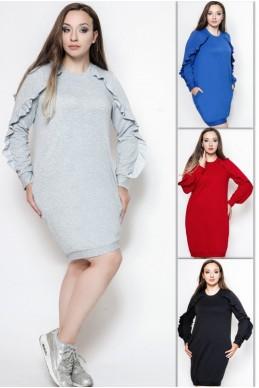 """Платья Батал """"Ангелина"""" - женская одежда, бижутерия оптом. Фото - look-and-buy.com"""