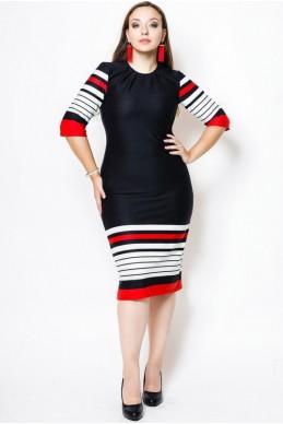 """Платье большого размера """"Богема"""",черный - женская одежда, бижутерия оптом. Фото - look-and-buy.com"""