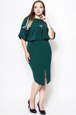 """Платье батал """"Маристелла"""" изумруд - женская одежда, бижутерия оптом. Фото - look-and-buy.com"""