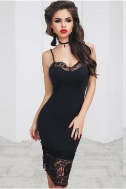 915060223285f02 Маленькое черное платье Орабель - женская одежда, бижутерия оптом. Фото -  look-and