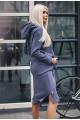 Спортивное платье  Женева натурального серого - женская одежда, бижутерия оптом. Фото - look-and-buy.com