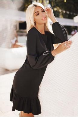 Черное свободное платье Розалия  - женская одежда, бижутерия оптом. Фото - look-and-buy.com