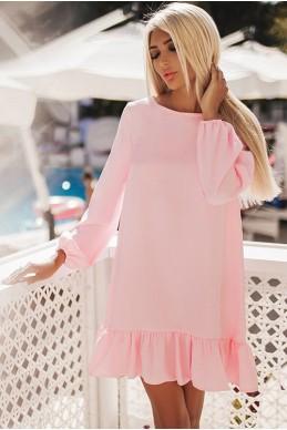 Нежно розовое платье Розалия  - женская одежда, бижутерия оптом. Фото - look-and-buy.com