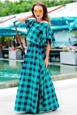 Топ цвет! Женское платье Шерлиз зеленый - женская одежда, бижутерия оптом. Фото - look-and-buy.com