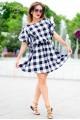 Короткое платье в клетку Шарлотта - женская одежда, бижутерия оптом. Фото - look-and-buy.com