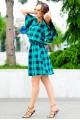 Летнее платье  Шарлотта зеленый - женская одежда, бижутерия оптом. Фото - look-and-buy.com