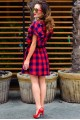 Модное женское платье Шарлотта красный - женская одежда, бижутерия оптом. Фото - look-and-buy.com