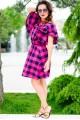 Женское летнее платье  Шарлотта малиновый - женская одежда, бижутерия оптом. Фото - look-and-buy.com