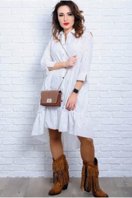 Белое летнее платье Флора - женская одежда, бижутерия оптом. Фото - look-and-buy.com
