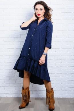 Платье в стиле бохо Флора темно-синий - женская одежда, бижутерия оптом. Фото - look-and-buy.com