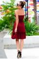 Короткий летний сарафан Никка бордовый - женская одежда, бижутерия оптом. Фото - look-and-buy.com