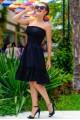 Черный женский сарафан Никка  - женская одежда, бижутерия оптом. Фото - look-and-buy.com