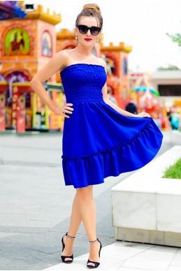 Женский летний сарафан Никка электрик - женская одежда, бижутерия оптом. Фото - look-and-buy.com