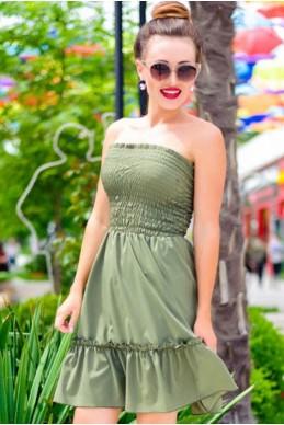Женский  летний сарафан Никка хаки - женская одежда, бижутерия оптом. Фото - look-and-buy.com