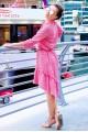 Платье свободного фасона  Флора, розовый - женская одежда, бижутерия оптом. Фото - look-and-buy.com
