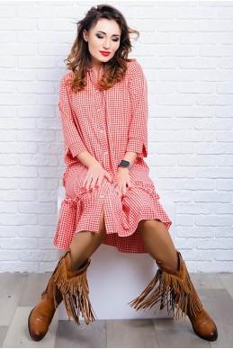 Платье в стиле бохо Флора  красный - женская одежда, бижутерия оптом. Фото - look-and-buy.com